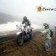 Eroici in Moto all'ultimo tornante prima del Passo di Croce Arcana, fra la neve e il fangone
